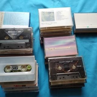 【貰ってください】録音済(使用済)カセットテープ各種合計28本