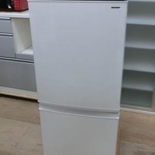 SHARP 2ドア 冷凍冷蔵庫 SJ-D14D 2018年製 中古美品