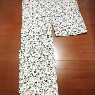 浴衣 白地 花柄