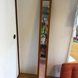 スリムウォールミラー 姿見  壁掛け鏡 全身鏡 0円
