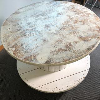 自作の円卓テーブル