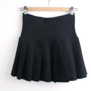 2colorフリーサイズ ミニスカート プリーツ膝上フレア…