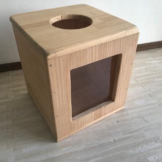 木製の抽選箱 中身が見えるタイプ