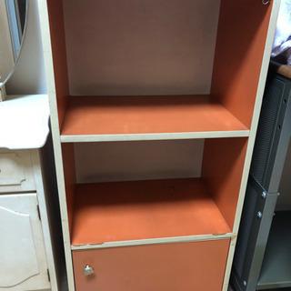 難あり☆昭和レトロなカラーボックス棚☆オレンジ