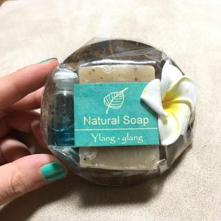 ナチュラルソープ&アロマセット イランイランの香り
