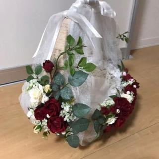 結婚式♡バラの花カゴ