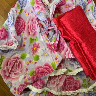 浴衣 セット!😊  130 薄い紫色に花 帯はピンクです!