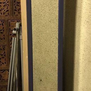 木製 全身ミラー付 7段 収納ボックス 収納棚 小物置き …