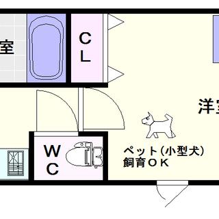【LIVAZ NAMBA AIRY】6号タイプ!1Kタイプ!ペッ...