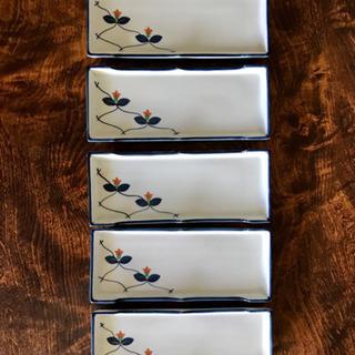 【美品】有田焼 重山造の長皿五枚セット