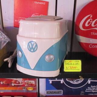 【希少】ワーゲンバス トースター・青色/家電・未使用品