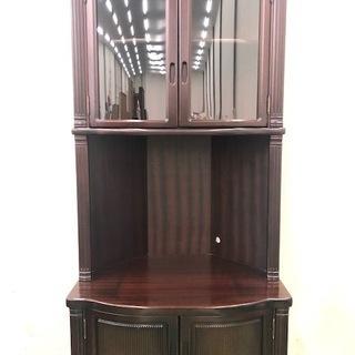 テレビ収納ラック コーナー収納棚 隅棚バーロン 2枚扉 高さ18...