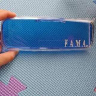新品ペンケース プラスチック 透明×青