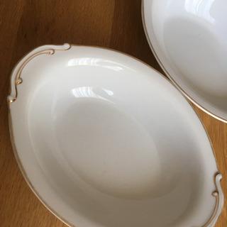 2枚★金縁の楕円形 深皿
