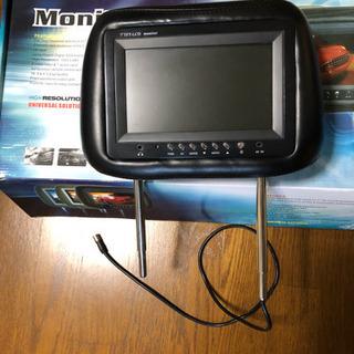 ヘッドレスト カーモニター 車のモニター  2台 美品