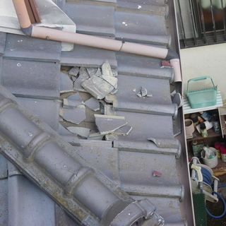 竜巻による屋根の修理、承ります。