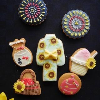 アイシングクッキー☆8月1Dayレッスン「夏まつり」☆初心者様&...