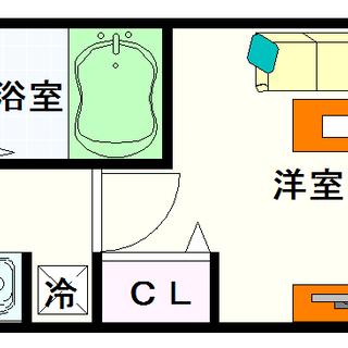 【プロシード難波ディオス】2号タイプ!1Kタイプ!浪速区の3万円...
