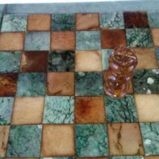 翡翠、瑪瑙、大理石等天然石 チェス駒、盤
