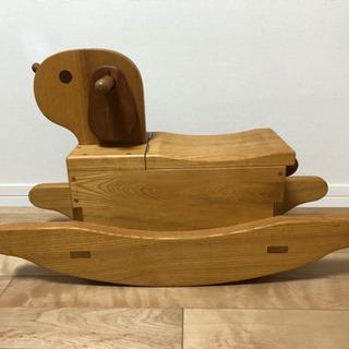 木製おもちゃ 大型 犬 シーソー 無垢