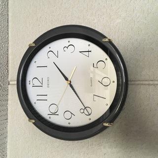 掛け時計 SEIKO quartz 30cm径 連続秒針  中古