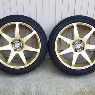 【値下げ】レイズアルミホイール 195/45R16タイヤ4本セット