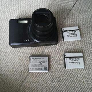 リコー コンパクトデジカメcx3(ジャンク)と対応充電池3個と充電器