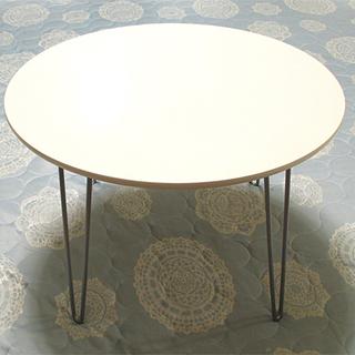 テーブル ちゃぶ台 サイドテーブル 白 ホワイト ※引き取りのみ...