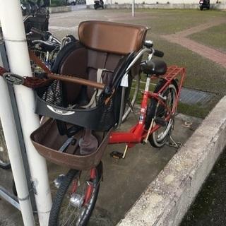 【本日限定】子供乗せ自転車 前後チャイルドシート付き