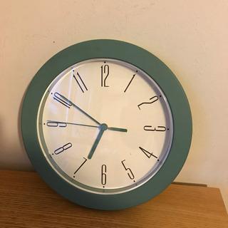 【値下げ】壁掛け時計 ブルーグレー