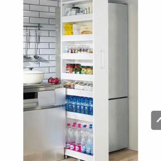 【値下げ中!】キッチン隙間収納棚 ホワイト