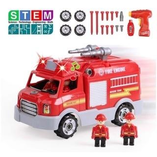 子ども おもちゃ 男の子 消防車 組み立て 工具 ドライバー