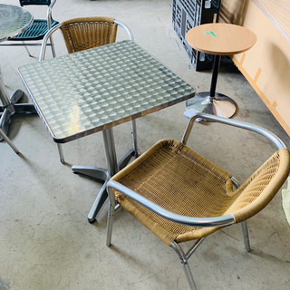 ★カフェテーブル★ 椅子2脚セット 今流行りのベランダカフェ♪に...