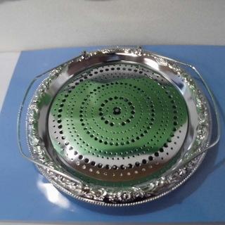 JM4100)クローム仕上げトレー 水切付【取りに来られる方限定】