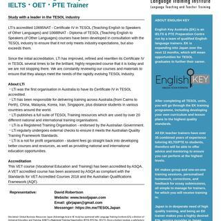 TESOL Training Programme in Bepp...