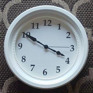 イケア 壁掛け時計 ホワイト ソンドルム ウォールクロック IKEA