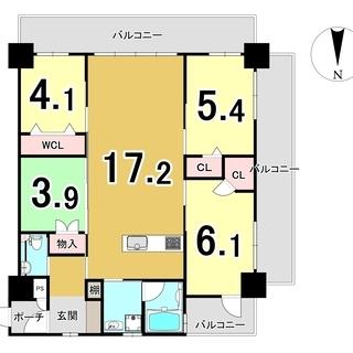 那覇市西町ペット可能マンション4LDK(78.59㎡)駐車場2台...