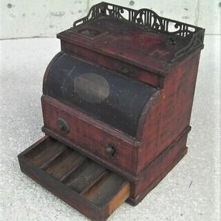 昭和初期・戦前の古い木製レジスター☆金銭自動整理機・金銭分類器・...