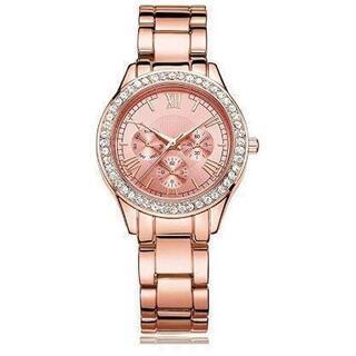 女性 腕時計 クリスタル ローマ数字 電池交換可能 日本製クォーツ