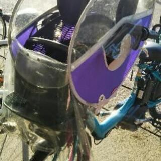 子乗せ自転車 前かご レインカバー