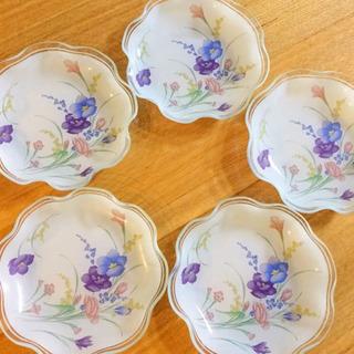 昭和レトロ  ガラス製  フルーツ皿  5枚セット