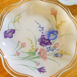 昭和レトロ  ガラス製  フルーツ皿  5枚セット - 生活雑貨