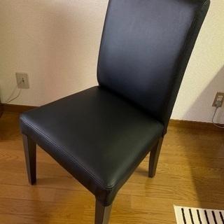 IKEA  ヘンリクスダール チェア ブラック 革  一脚 美品!