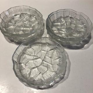 未使用☆ガラス皿  5枚
