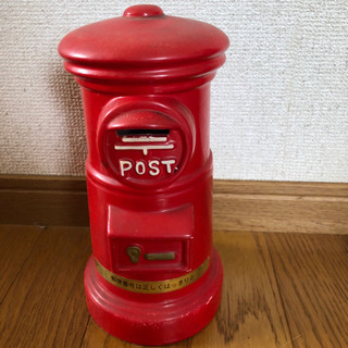 郵便ポスト貯金箱 大 アンティーク 置物