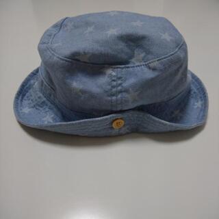 ☆子ども帽子 50㎝☆水色 星柄