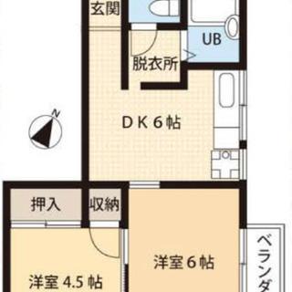 【家主直接】2DK/更新料0/羽貫駅8分/南東向き/ペット可/ネ...