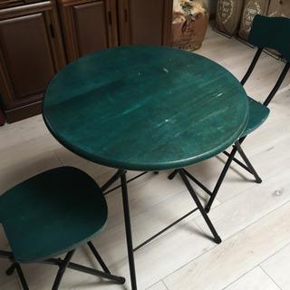 (取引終了)ラウンドテーブル &チェア