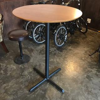 木製ハイテーブル 円型 ラウンドテーブル