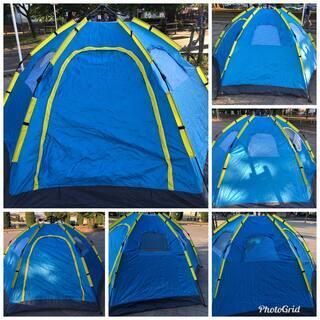 テント・(ドーム型テント) 5人用 簡単設営 ワンタッチテント